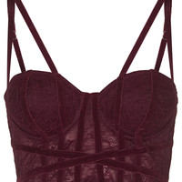 Velvet and Lace Corset - Topshop