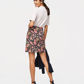 Poppy Bloom Shift Skirt | LOFT