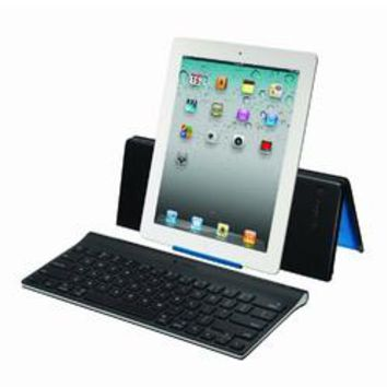Logitech Bluetooth Keyboard for Apple iPad with Adjustable Stand, Refurbished