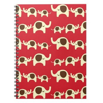 Good luck elephants preppy red cute nature pattern