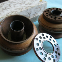 Vintage Round Posey Ring Candleholders by ToucheVintage on Etsy