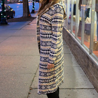 Aztec Hooded Cardigan