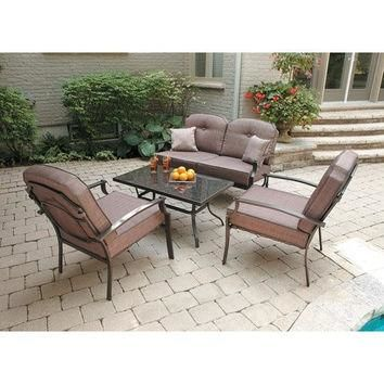 Mainstays Wentworth 4-Piece Patio Conversation Set