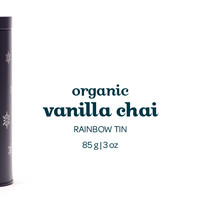 Vanilla Chai (Organic) Rainbow Tin - Colourful Storage Tin Packed With Spicy Black Tea Blend With A Sweet And Creamy Hint Of Vanilla | DAVIDsTEA