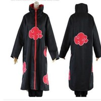 Naruto Sasauke ninja Hot Sale Anime  Akatsuki /Uchiha Itachi Cosplay Halloween Christmas Party Costume Cloak Cape  cosplay clothes AT_81_8