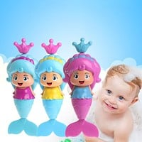 Baby Cute Mermaid Clockwork Dabbling Bath Toy Classic Swimming Water Wind Up Toy