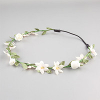 Full Tilt Tiny Flower Wire Headwrap Ivory One Size For Women 23537816001