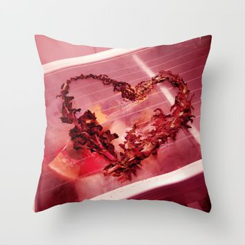 Cold Hearted? Throw Pillow by EXIST NYC
