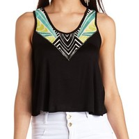 TRIBAL EMBROIDERED SWING TANK TOP