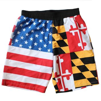 *PRE-ORDER* Maryland & American Flag / Board Shorts (Estimated Arrival: 7/5)