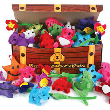 "4"" to 7"" plush toy asst in treasure chest Case of 180"