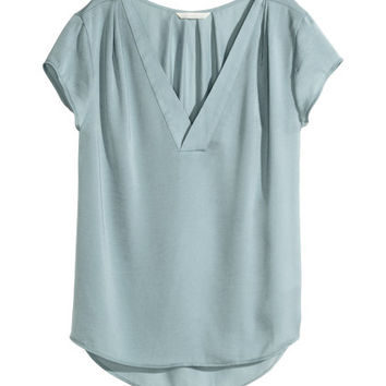 H&M V-neck satin blouse $19.99