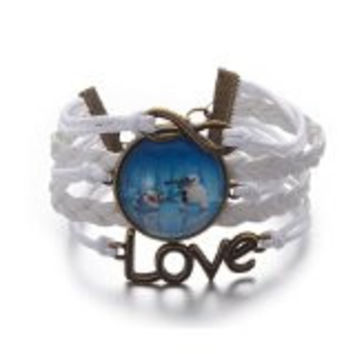 Disney Frozen White Olaf the Snowman Bracelet