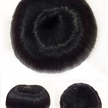 Hair Bun, Perfect Braided, Hair Piece, Black, Jet Black!