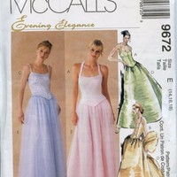 McCalls Pattern 9672 Boned Bodice + Evening Skirt Evening Elegance Series