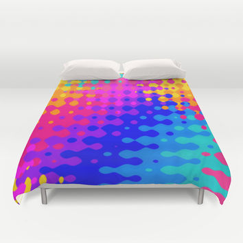 Totally Psychedelic Hippy Pattern Duvet Cover by Kirsten Star