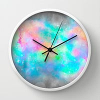 The Soul Becomes Dyed With the Colors of it's Thoughts (Galactic Watercolors) Wall Clock by Soaring Anchor Designs ⚓