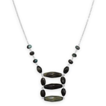 20in x 2in Agate Ladder Necklace