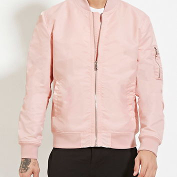 Pocket Sleeve Bomber Jacket | 21 MEN - 2000150324