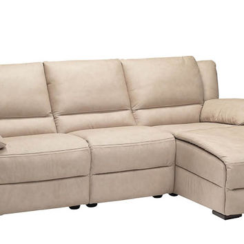 Genoa Leather Chaise Sectional by Natuzzi Editions