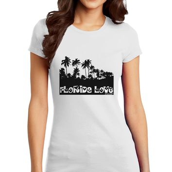 Florida Love - Palm Trees Cutout Design Juniors T-Shirt by TooLoud
