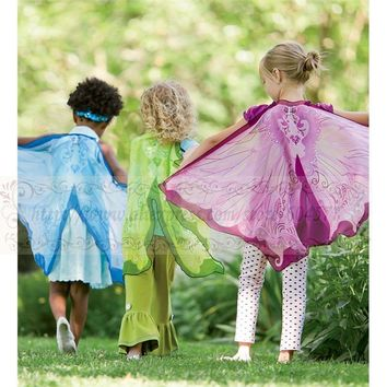 Fairy Wings Girls Costumes for Halloween Dress Up Clothes, Pretend Play Christmas Gifts for Kids,Birthday Present
