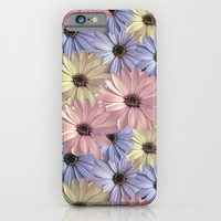 iPhone CASE - iPhone 6 - iPhone6 Plus - iPhone 5 - Slim and Tough options available - Daisy  - Pink Yellow Blue Pattern Floral Design Case