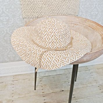 Modern Wide Brimmed + Straw Floppy Hat