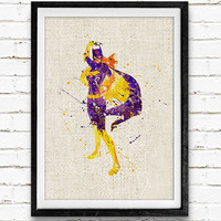 Batgirl Watercolor Art Print, Batman Watercolor Poster, Superhero Wall Art, Home Decor, Not Framed, Buy 2 Get 1 Free