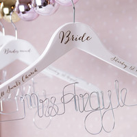 Personalised Wedding Hanger - Engraved Wedding Dress Hanger - Personalised Bride Hanger - Bridal Party Hangers - Bridesmaid Hangers