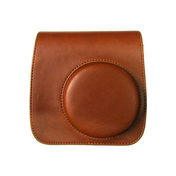 Fujifilm Instax Mini 8 Camera Bag Brown Leather Protection Case