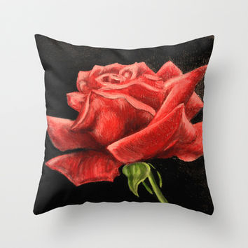 Blood Rose Throw Pillow by Shannon Valentine