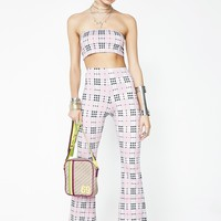 Pink Check Jeevan Twinset