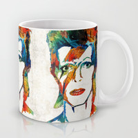 David Bowie Art Tribute by Sharon Cummings Mug by Sharon Cummings