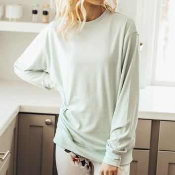 Sweetheart Pullover Misty Blue