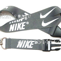 FREE SHIPPING Men's Silver  key Lanyards  Sport logo  HOLDERS