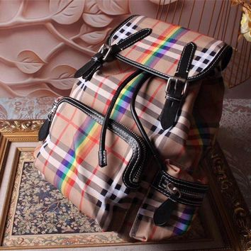Burberry Hot Style Canvas Medium The Rucksack Backpack Bag