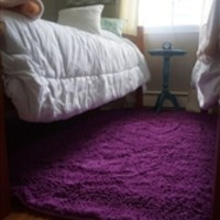 Chenille Area Rug (4' x 6') - Radiant Orchid - Cheap Dorm Rugs for Girls