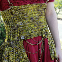 Crochet Pattern. Hardware Heaven Steampunk Collection, corset. PDF instant download.