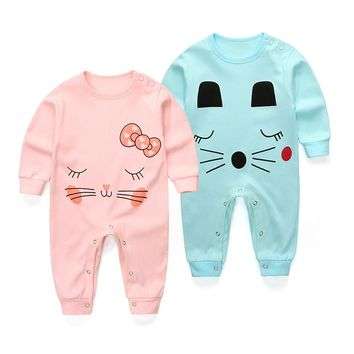 2018 Spring summer Boy Jumpsuits   Costume Newborn Cartoon Rompers Baby Clothes Infant Girls cotton long Sleeve Clothing