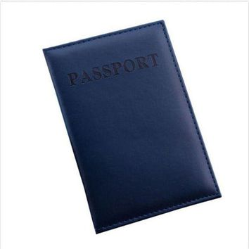 DCCKU62 Travel Utility Simple Passport ID Card Cover Holder Protector Skin Leather New