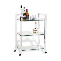 Lucite Ava Bar Cart