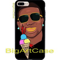 Best Hot Mane Ice Cream Tattoo poster art CASE COVER iPhone 6s/6s+/7/7+/8/8+, X