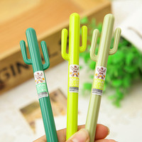 Three Cactus Gel Pens