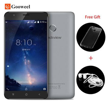 "Blackview E7S Fingerprint ID Mobile Phone 5.5"" HD IPS MTK6580 Quad Core smartphone 2GB RAM 16GB ROM Android 6.0 3G Cell phone"