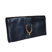 PEAPIX5 Gucci Women's Blue Python Skin Clutch Handbag Bag