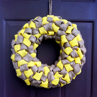Burlap Wreath for Front Door or Wall