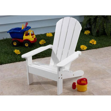 KidKraft 81 White Adirondack Chair for Kids