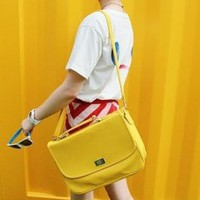 Wholesale Korean Candy Dual Functions Bags Yellow