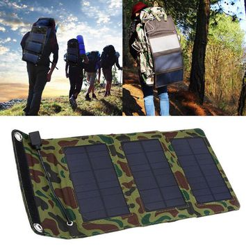 5W 5.5V Output Portable Solar Panel USB Charger for Cellphone